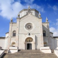 Milan, Italy - Famedio Chapel at Monumental Cemetery